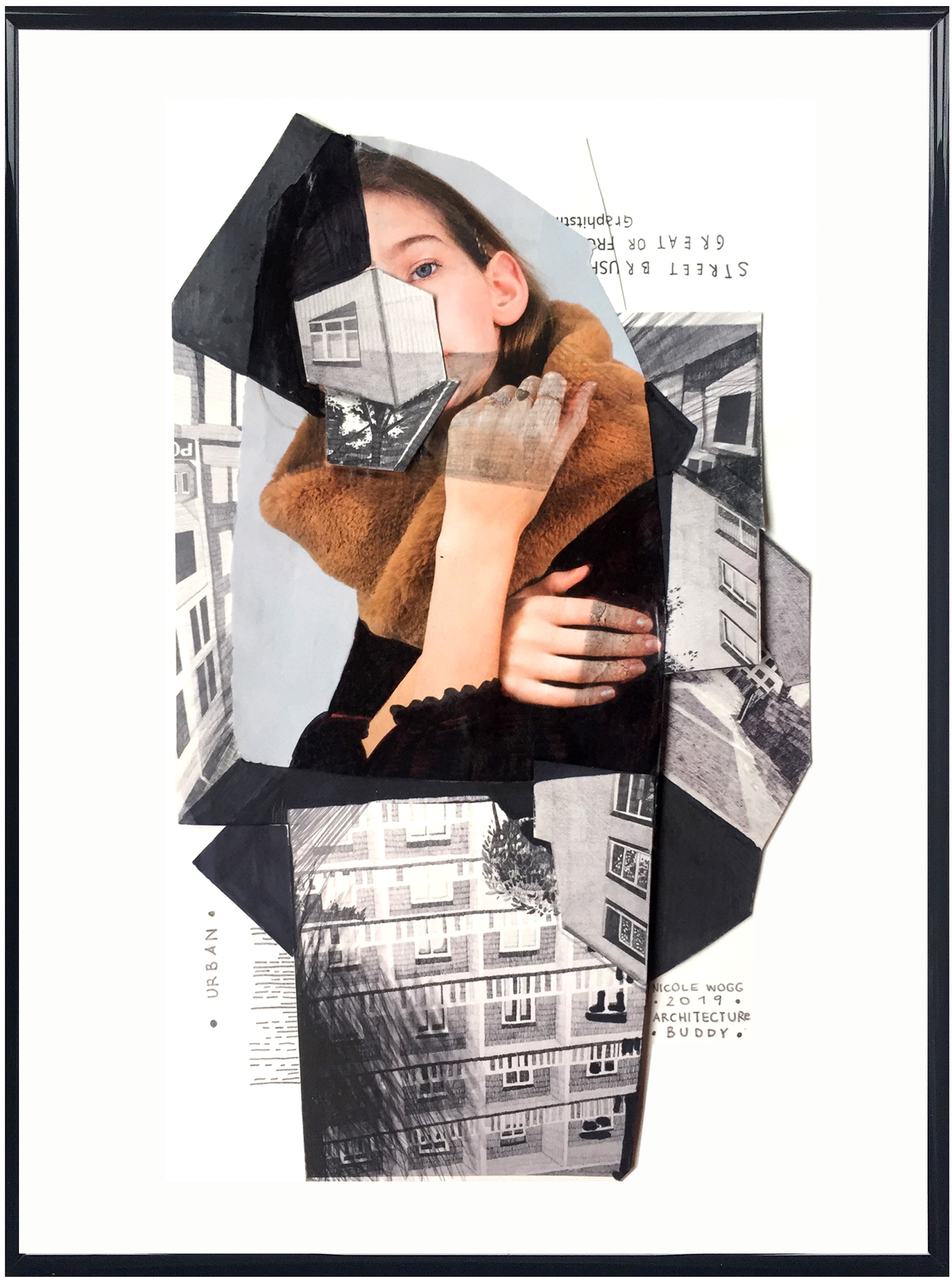 4. Architecture Buddy urban life , collage, 30x21cm, 2019