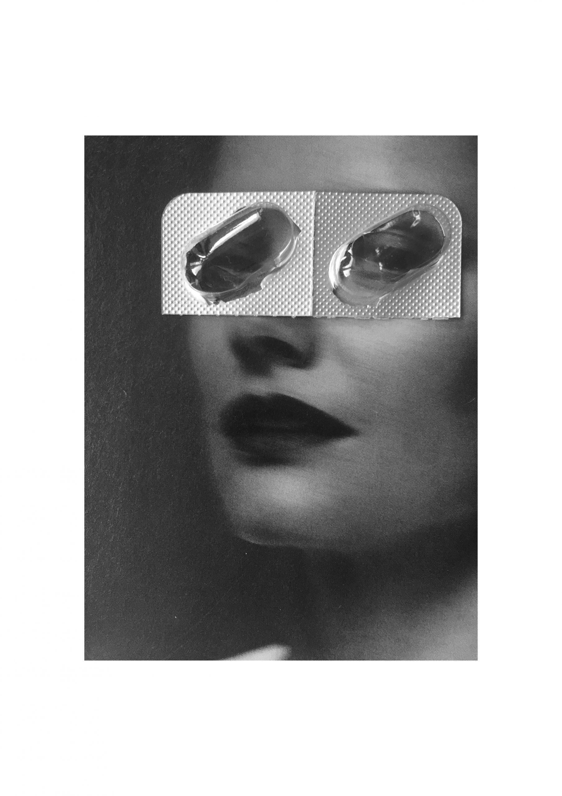 Skizze Augen tablettenschachtel
